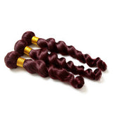 Loose Wave Human Hair (Three Bundles) (99J)