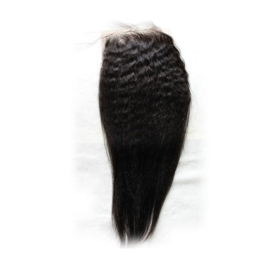 Afro Kinky Straight 4x4 Silk Base Closure (Natural 1B) - Low price cheap hair extensions