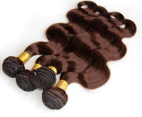 Body Wave Human Hair (Three Bundles) (#4 Brown) - Low price cheap hair extensions