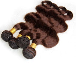 Body Wave Human Hair (Three Bundles) (#4 Brown)