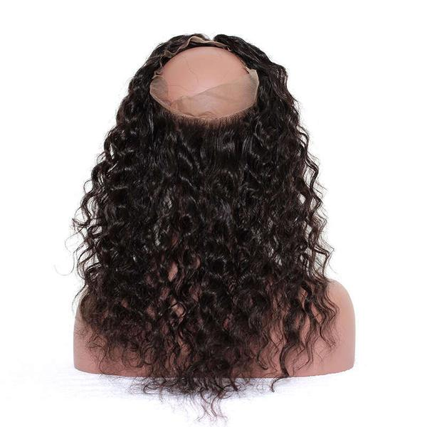 Loose Wave 360 Lace Base Frontal Closure (Natural 1B) - Low price cheap hair extensions