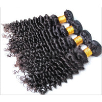 Kinky Curly Human Hair (Four Bundles) (Natural 1B)