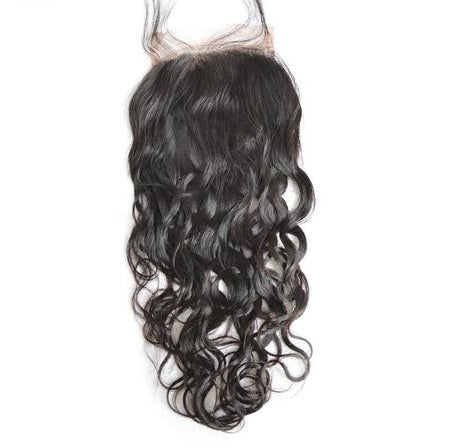 Water Wave 4x4 Lace Base Closure (Natural 1B) - Low price cheap hair extensions