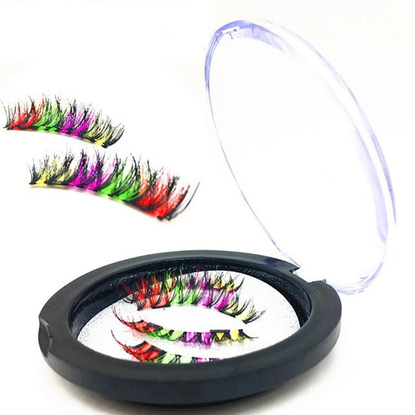 4 Pcs/Pairs Creative 3D Magnetic Colorful Eyelashes