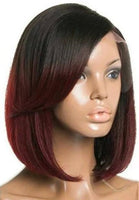 "Straight 1B/99J Ombre Human Hair Wig (10"" - 16"")"