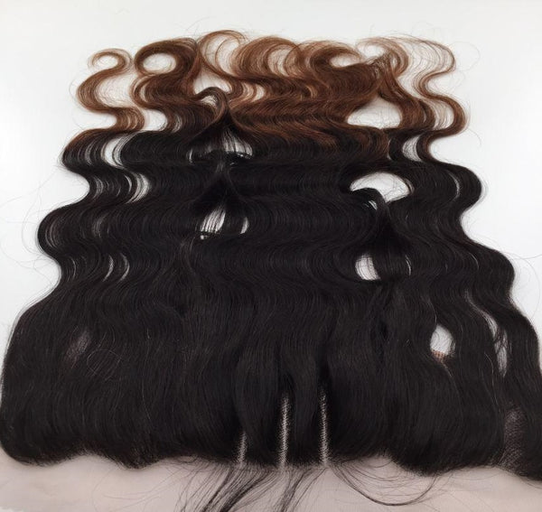 Body Wave 13x4 Lace Base Ombre Frontal Closure (1B/30) - Low price cheap hair extensions