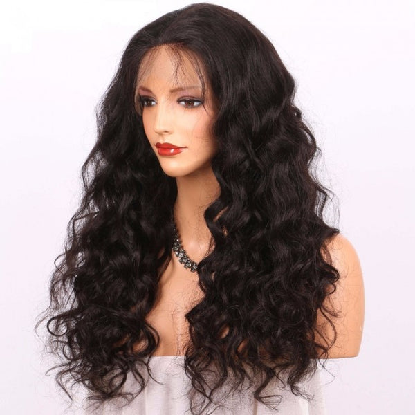 Loose Wave Human Hair Wig (Natural 1B)