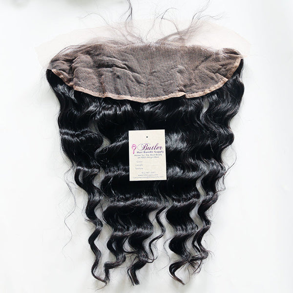 Deep Wave 13x4 Frontal Closure Lace Base (Natural 1B) - Low price cheap hair extensions