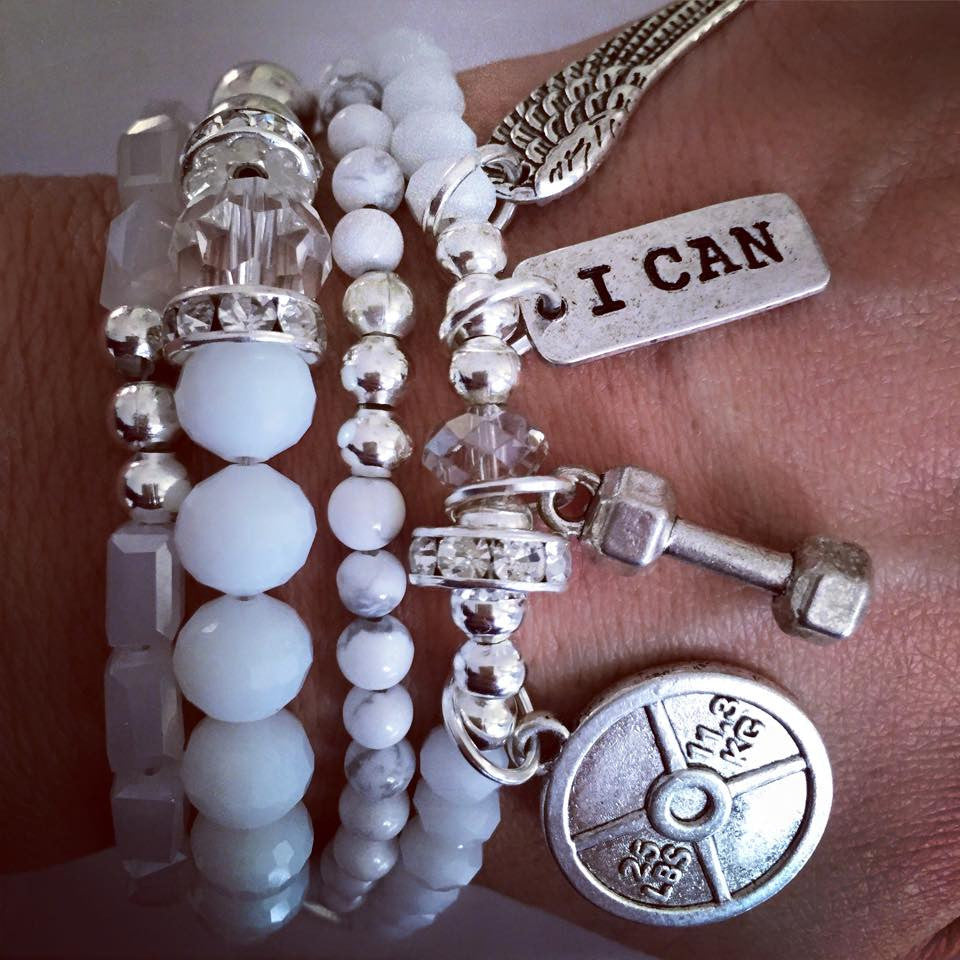 Unstoppable White set of 4 bracelets