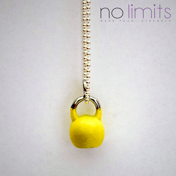 Determined | Short chain kettlebell necklace colour