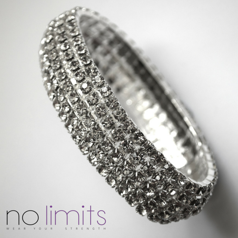 Crystal Encrusted Cuff Bracelet | Curved