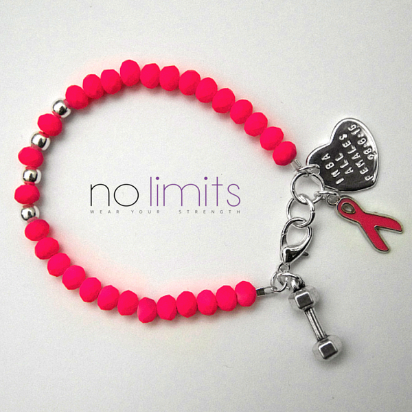 INBA All Females pink beaded bracelet