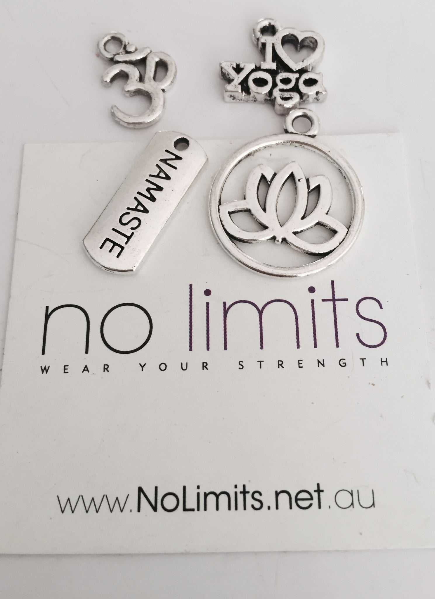 Yoga fitness charms