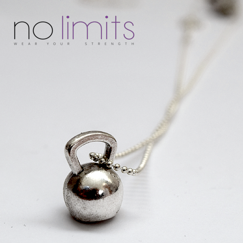 Determined | Short chain kettlebell necklace
