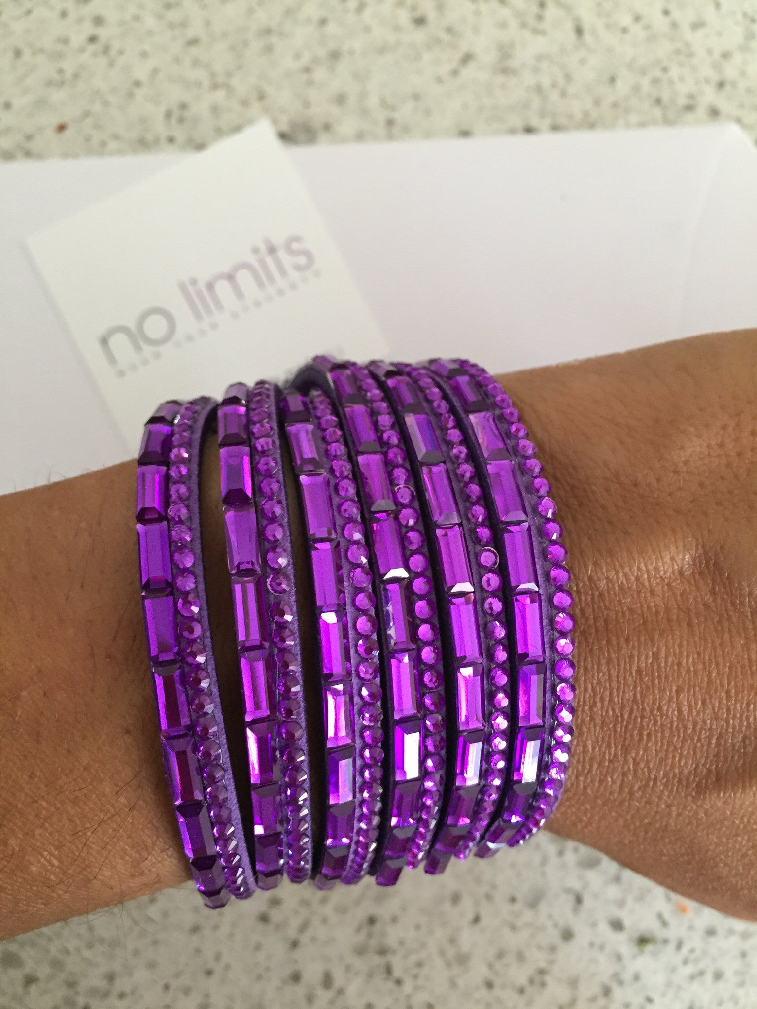 Rockstar crystal bracelet purple