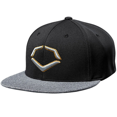 EvoShield Gold Thread FlexFit Baseball Cap - Black - Complete Game Pro Shop
