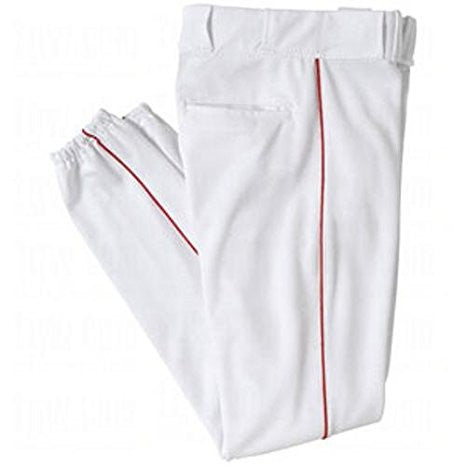 All Star Baseball Pants White with Red Piping - Complete Game Pro Shop