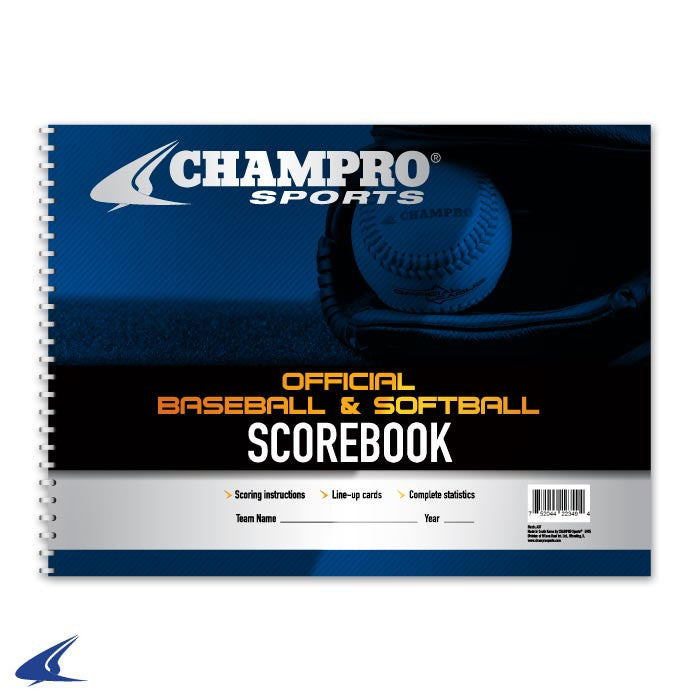 Champro Sports Official Baseball & Softball Scorebook - Complete Game Pro Shop