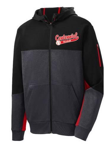 Centennial Baseball Tech Fleece Colorblock Full-Zip Hooded Jacket - Complete Game Pro Shop