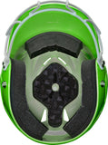Rawlings Coolflo Fastpitch Batting Helmet with Mask- Hyper Green (minor surface scratches) - Complete Game Pro Shop