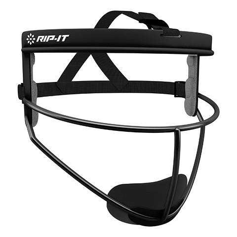 RIP-IT Defense Pro Softball Fielder's Mask - Adult- Black - Complete Game Pro Shop