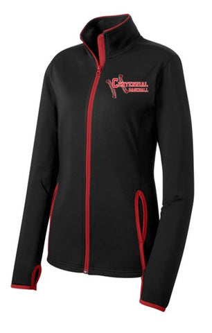 Baseball Ladies Sport-Wick® Stretch Contrast Full-Zip Jacket - Complete Game Pro Shop