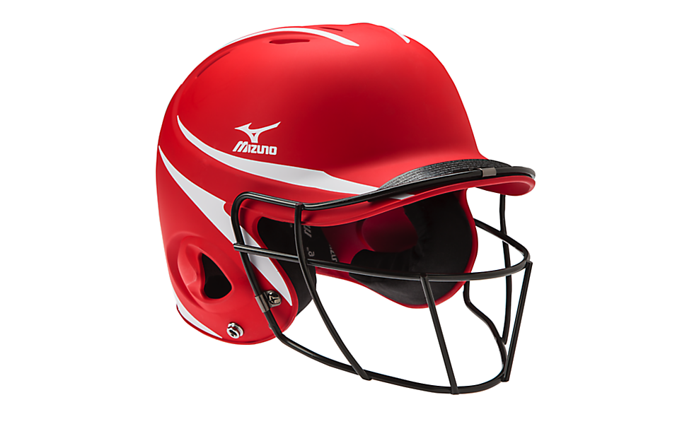 Mizuno MBH252 MVP Batter's Helmet with Fastpitch Mask - Complete Game Pro Shop