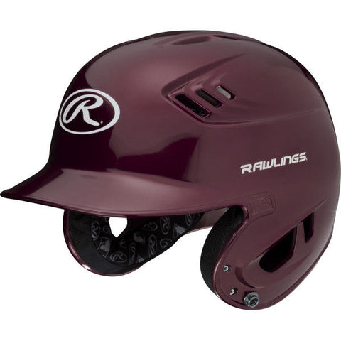 Rawlings VELO Senior Batting Helmet- Gloss/Maroon (minor scratches) - Complete Game Pro Shop