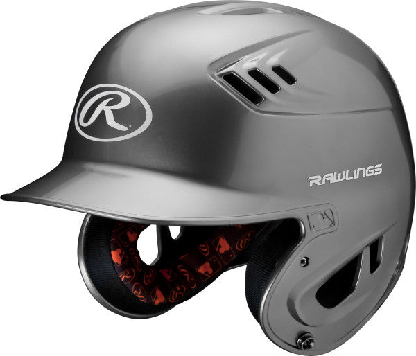 Rawlings Adult R16 Metallic Batting Helmet- Silver - Complete Game Pro Shop