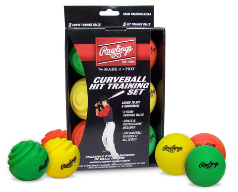 MOL - Rawlings Combination 6-PK Hit and Curve Training Balls - Complete Game Pro Shop
