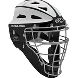 Rawlings Velo Adult Softball Catcher's Helmet- black/white - Complete Game Pro Shop
