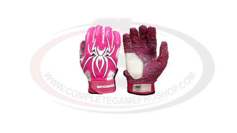 Spiderz HYBRID Adult Batting Gloves- Small / Pink - Complete Game Pro Shop