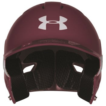 Under Armour Converge UABH2-150 Batting Helmet- Gloss/Maroon - Complete Game Pro Shop