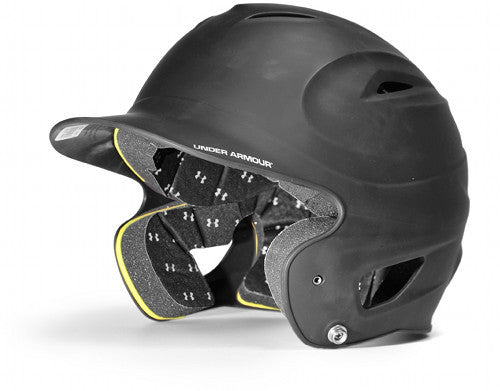 Under Armour UABH-110 Junior Batting Helmet- Matte Black - Complete Game Pro Shop