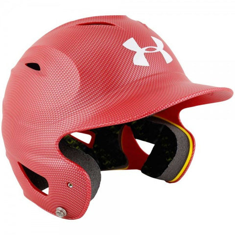 Under Armour UABH-100 Senior Batting Helmet- Carbon Scarlett - Complete Game Pro Shop