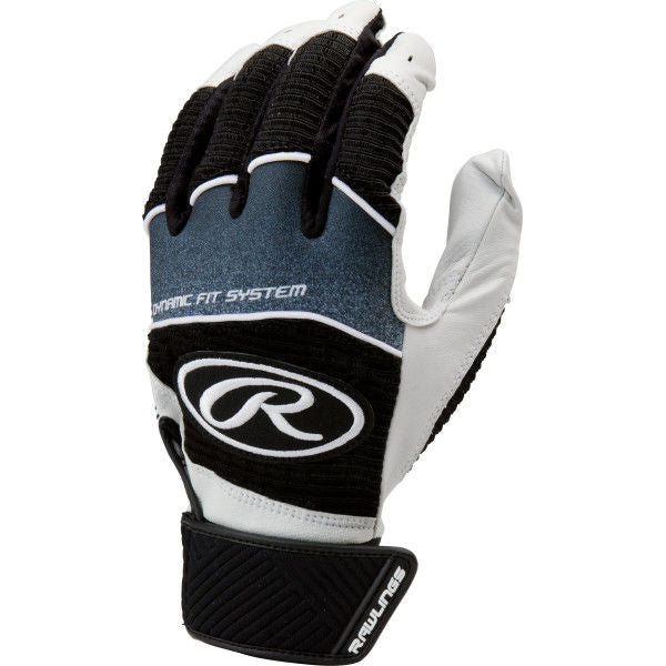 Rawlings Adult Workhorse Batting Gloves- Black/White or White/Blue/Red - Complete Game Pro Shop