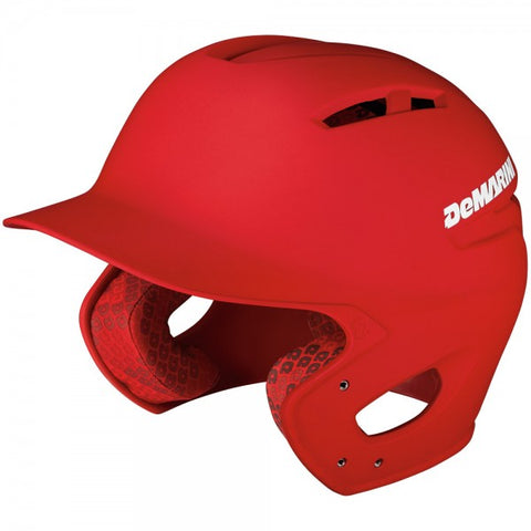 DeMarini Paradox Batting Helmet - Matte / Red - Complete Game Pro Shop