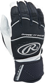 Rawlings Workhorse Compression Strap Adult Batting Gloves- Black or White - Complete Game Pro Shop