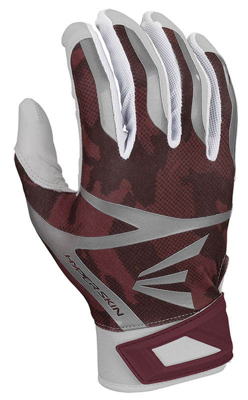 Easton Z7 Hyperskin Adult Batting Gloves- Maroon/White - Complete Game Pro Shop