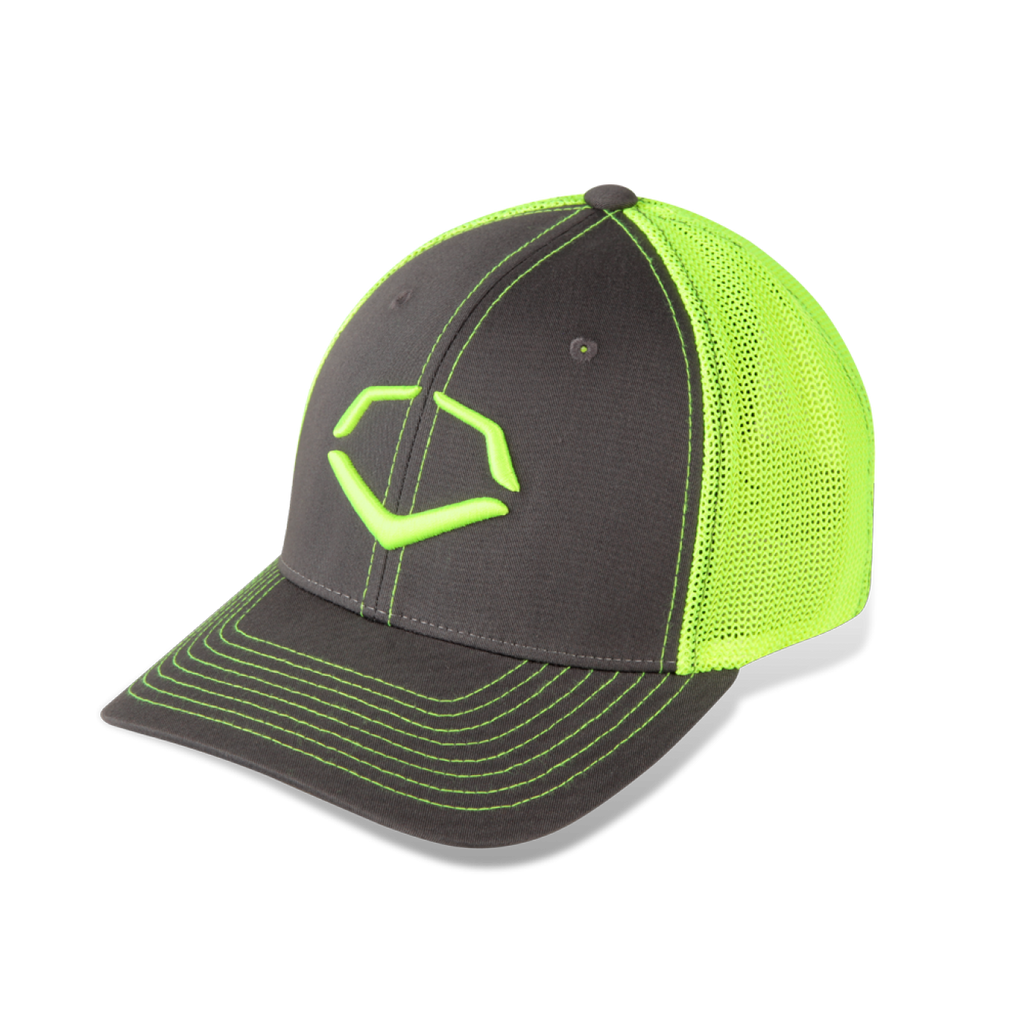 EvoShield Neon FLY Collection Cap Flex-Fit Gray Large/Extra Large - Complete Game Pro Shop