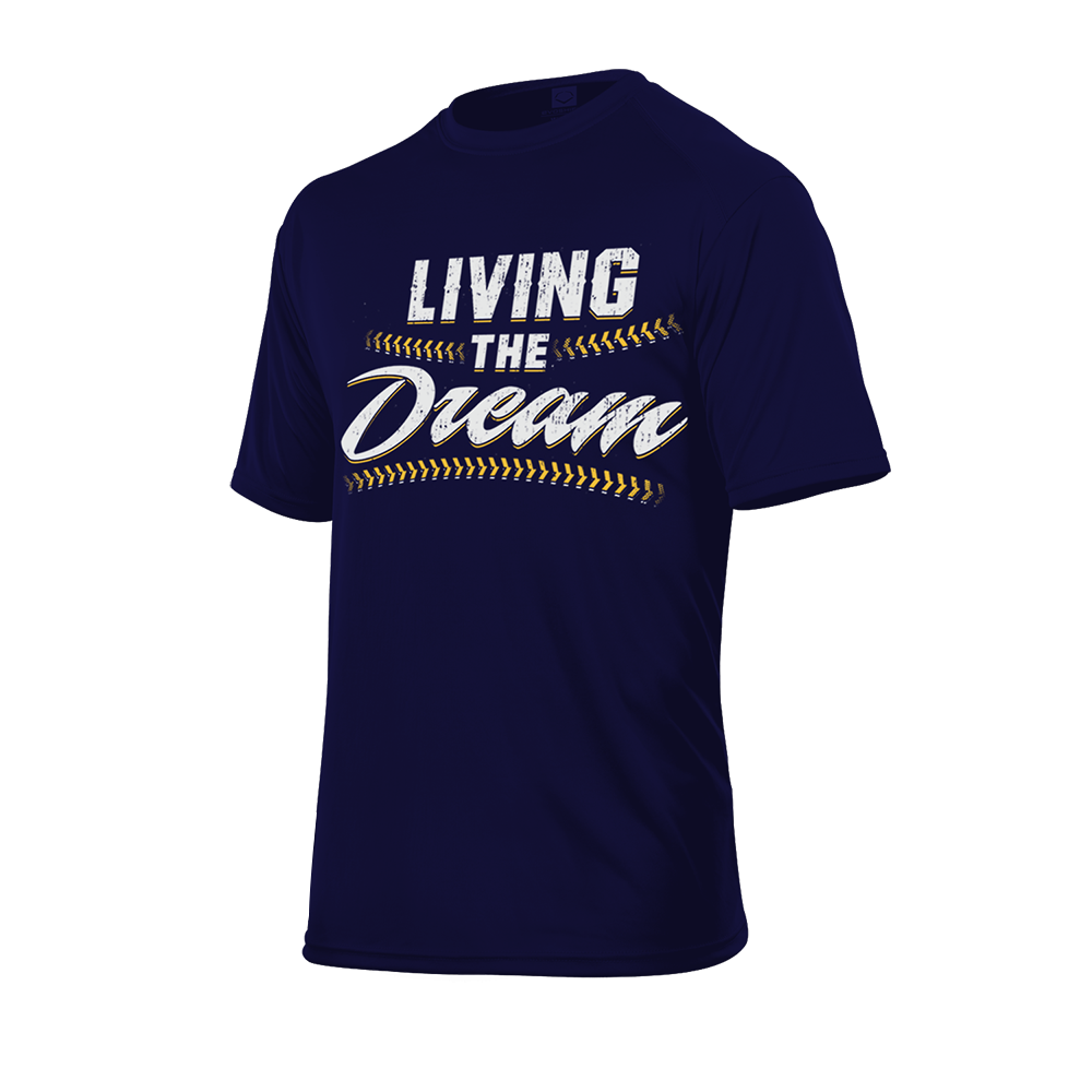 "Evoshield ""Living The Dream"" Men's Graphic Tee Navy - Complete Game Pro Shop"