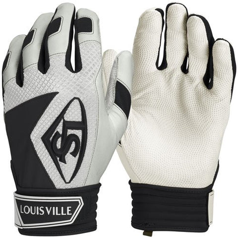 Louisville Slugger Series 7 Adult Batting Gloves- White/Black - Complete Game Pro Shop