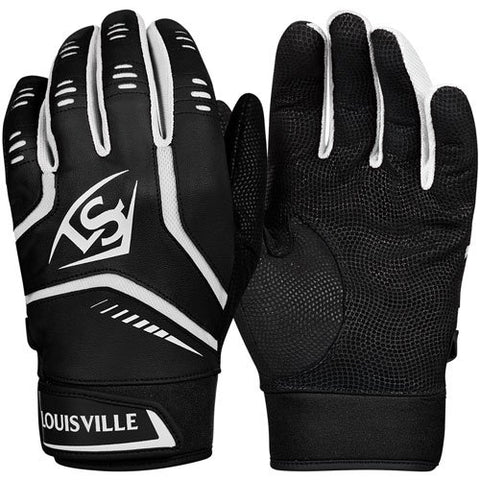 Louisville Slugger Adult Omaha Batting Gloves- Black or White - Complete Game Pro Shop
