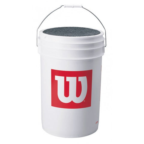 "Wilson ""W"" Ball Bucket with Cushion Lid - Complete Game Pro Shop"