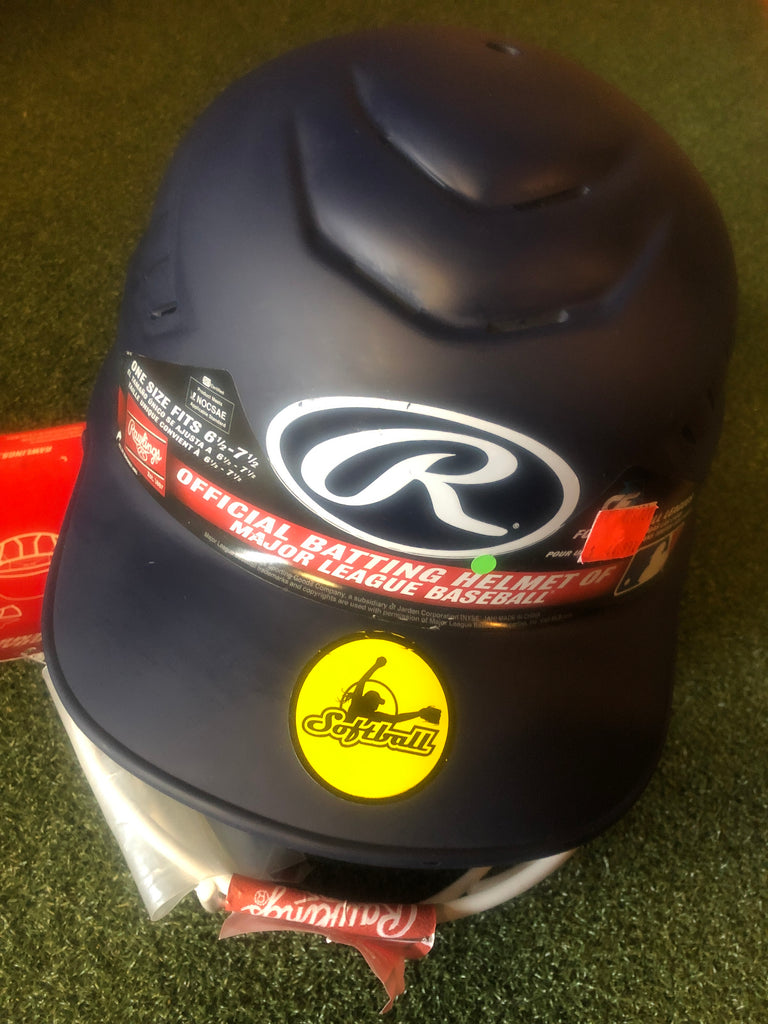 Rawlings Coolflo Fastpitch Batting Helmet with Mask- Matte Navy - Complete Game Pro Shop