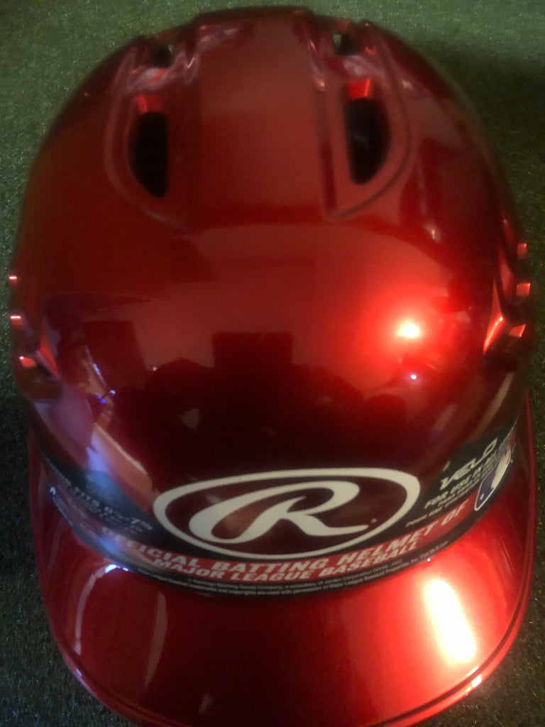 Rawlings Velo Metallic Red Batter's Helmet (new/minor blemishes) - Complete Game Pro Shop