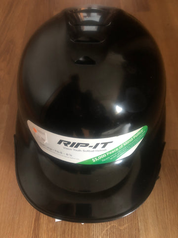 Rip-it Vision Youth Batting Helmets- Black/Gloss Finish (surface scratches) - Complete Game Pro Shop