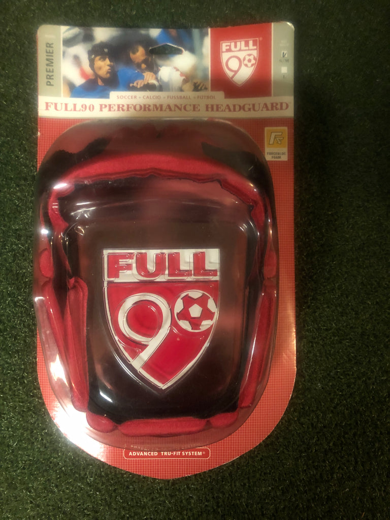 Full90 Premier Performance Headguard- S/M Red - Complete Game Pro Shop