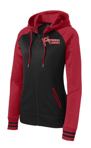 Baseball Ladies Sport-Wick® Varsity Fleece Full-Zip Hooded Jacket - Complete Game Pro Shop