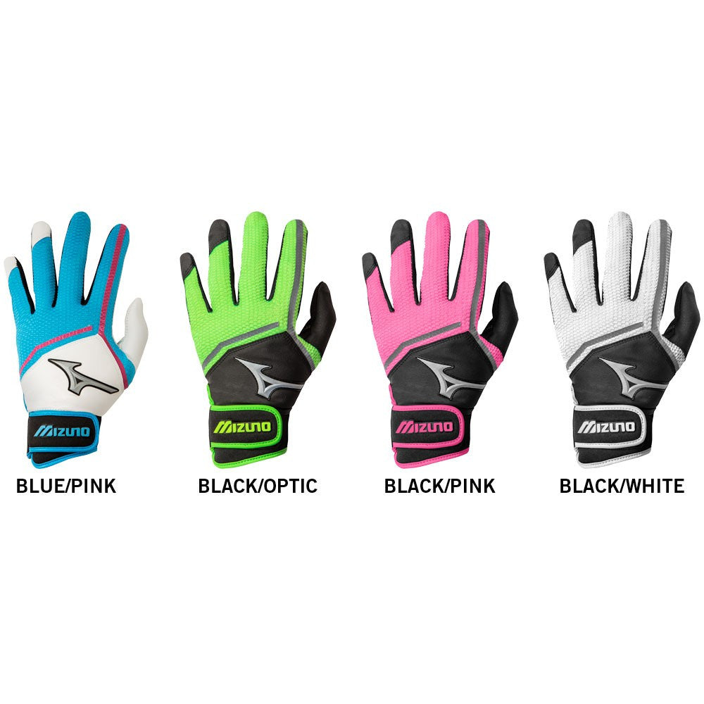 Mizuno Finch Womens/Youth Batting Gloves- various colors and sizes - Complete Game Pro Shop